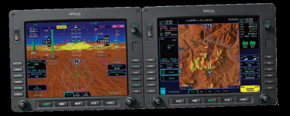 Synthetic vision on cockpit display