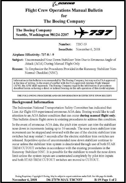 Lion Air B737-8 (MAX) PK-LQP crash on the Java Sea, 29